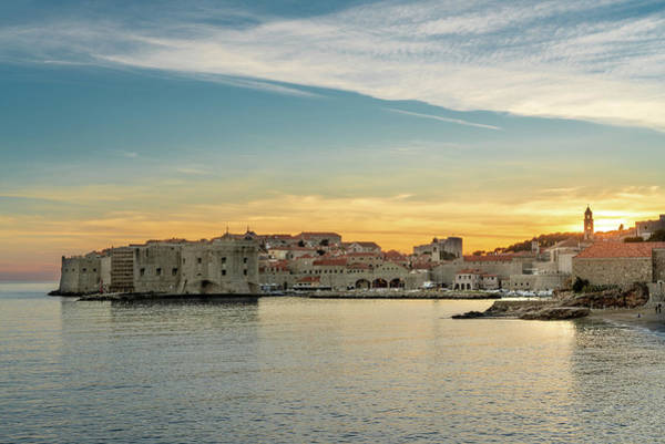 Dubrovnik Old Town At Sunset Poster