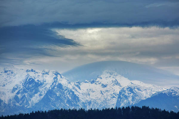 Fresh Snow On The Kamnik Alps Poster