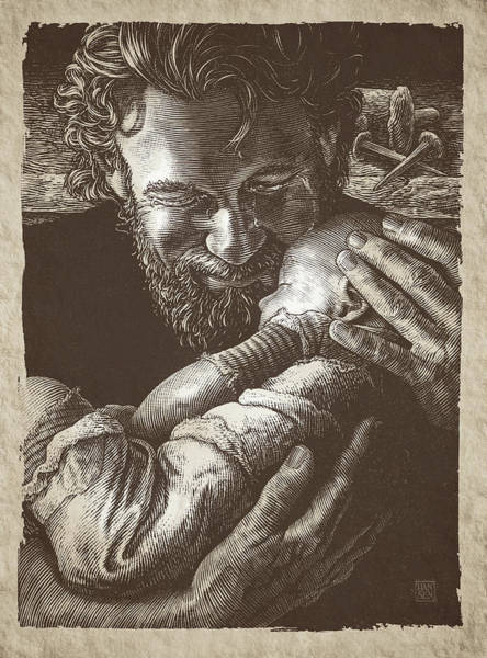 Poster featuring the drawing Joseph by Clint Hansen