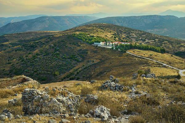 Monastery Agion Anargiron Above Argos Poster