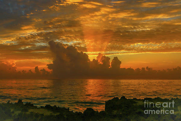 Poster featuring the photograph Orange Sun Rays by Tom Claud