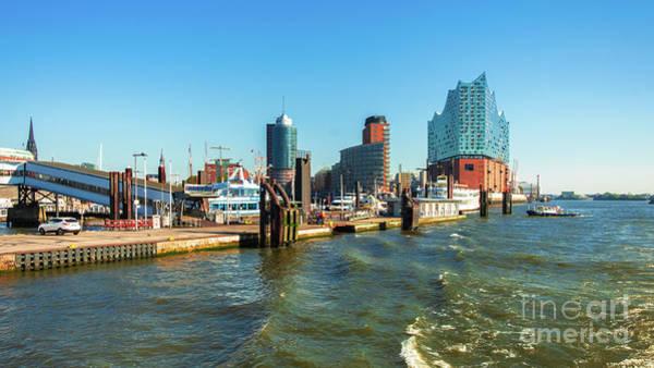 Panoramic View Of Hamburg. Poster