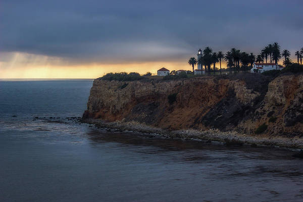 Point Vicente Lighthouse At Sunset Poster