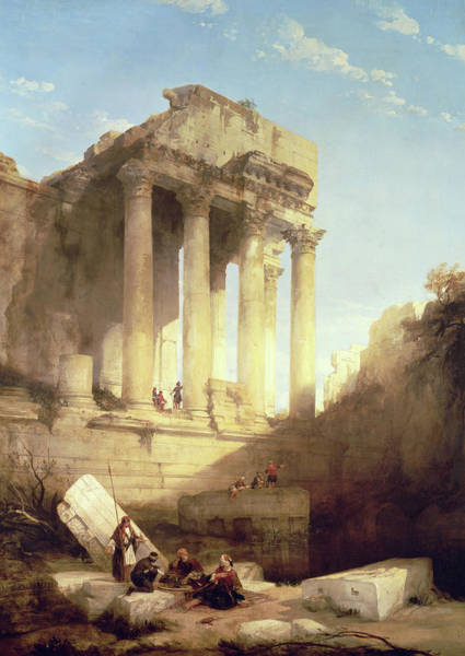Ruins Of The Temple Of Bacchus Poster