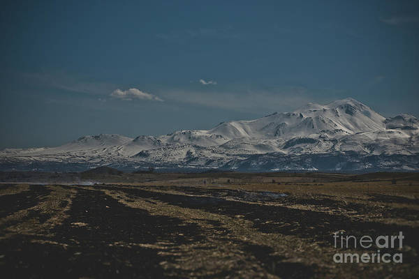 Snow-covered Mountains In The Turkish Region Of Capaddocia. Poster