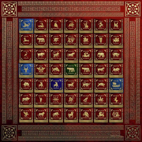 Standards Of Roman Imperial Legions - Legionum Romani Imperii Insignia Poster