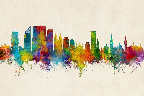 The Hague Netherlands Skyline Poster