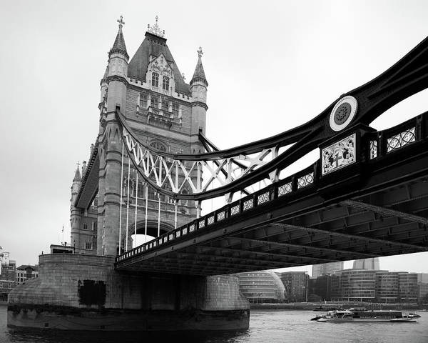 Tower Bridge In Black And White Poster