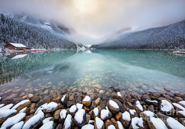 Winter Morning At Lake Louise Poster