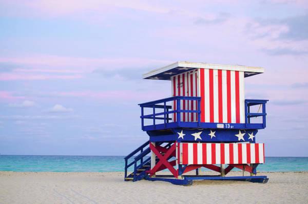 13th Street Lifeguard Hut In Miami Poster