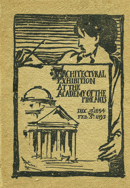 1894-95 Catalogue Of The Architectural Exhibition At The Pennsylvania Academy Of The Fine Arts Poster