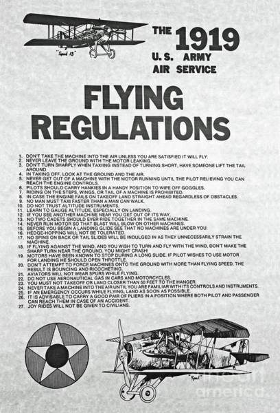 1919 Flying Regulations Poster Poster