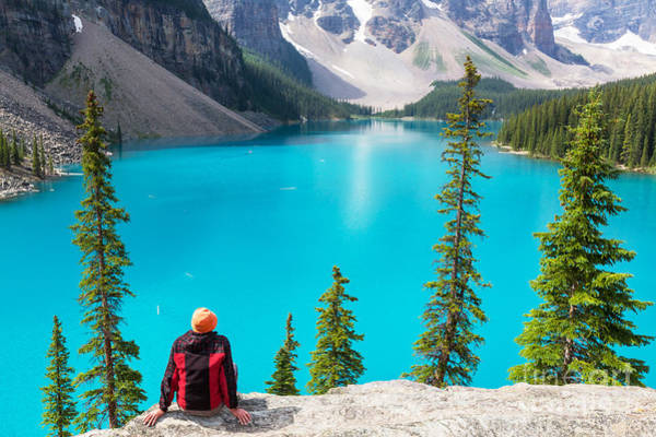 Beautiful Moraine Lake In Banff Poster