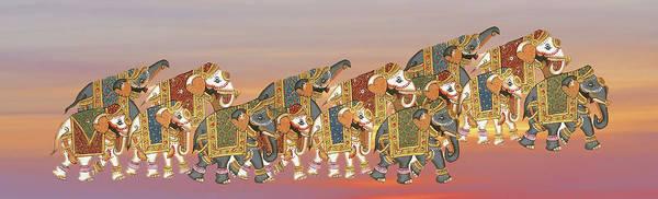 Caparisoned Elephants   Poster