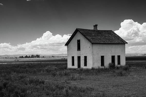 Old Abandoned House In Farming Area Poster
