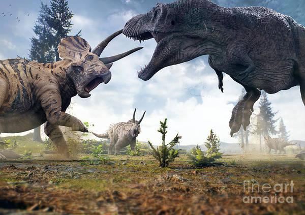 3d Rendering Of Tyrannosaurus Rex Poster