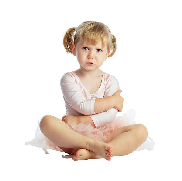 Isolated Female Child With Tutu Poster