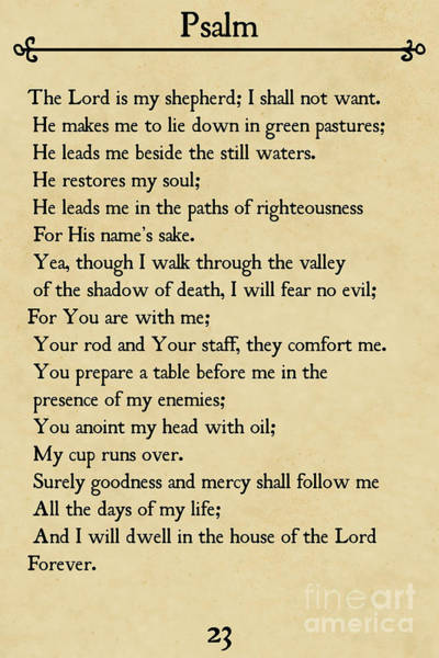 Psalm 23-bible Verse Wall Art Collection Poster