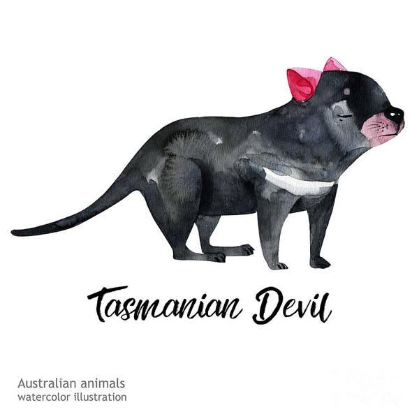 Australian Animals Watercolor Poster