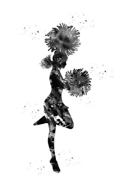 Cheerleader With Pompoms Poster