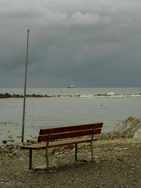 A Bench On Which To Expect, By The Sea Poster