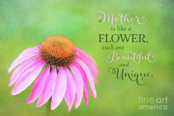 A Mother Is Lke A Flower Poster