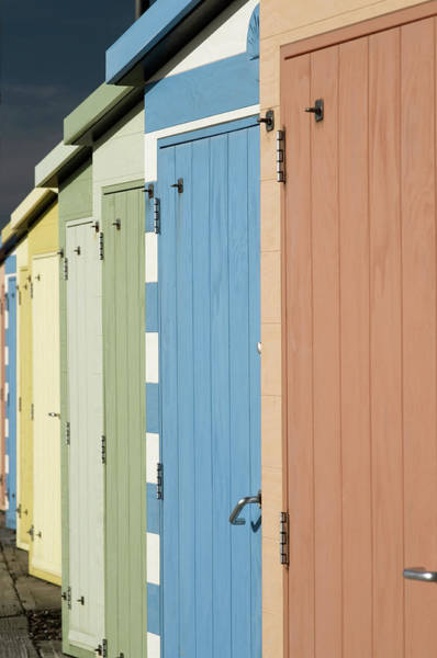 A Row Of Beach Huts Poster