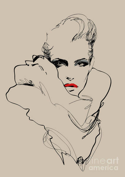 A Woman. Vector Sketch In Fashion Poster