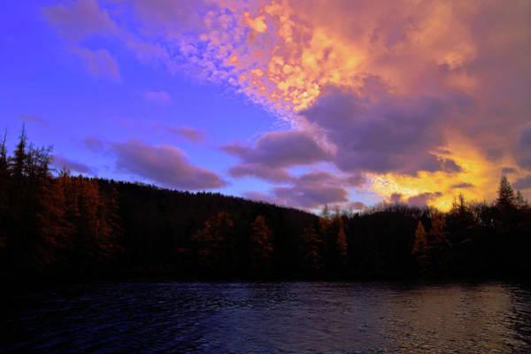 A Woodcraft Sunset Poster