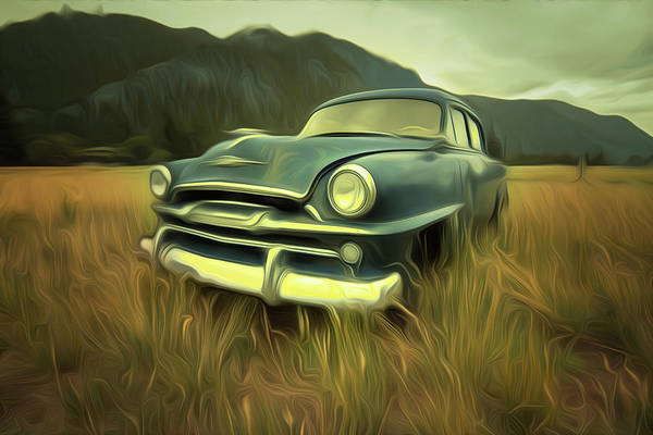Abandoned Old Car Poster