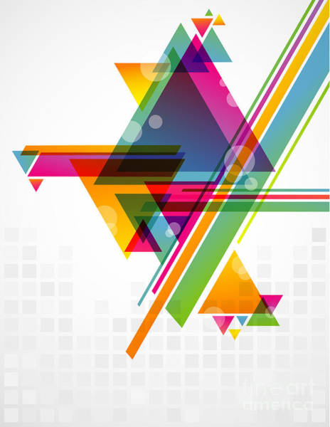 Abstract Geometric Shapes With Poster