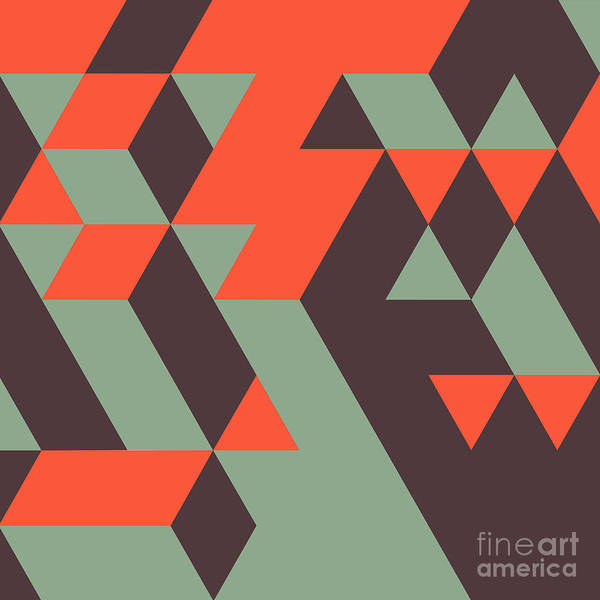 Abstract Geometrical 3d Background. Can Poster