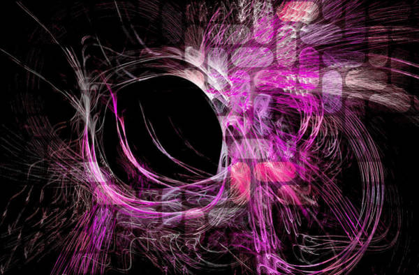 Abstract Heaven Magenta Poster