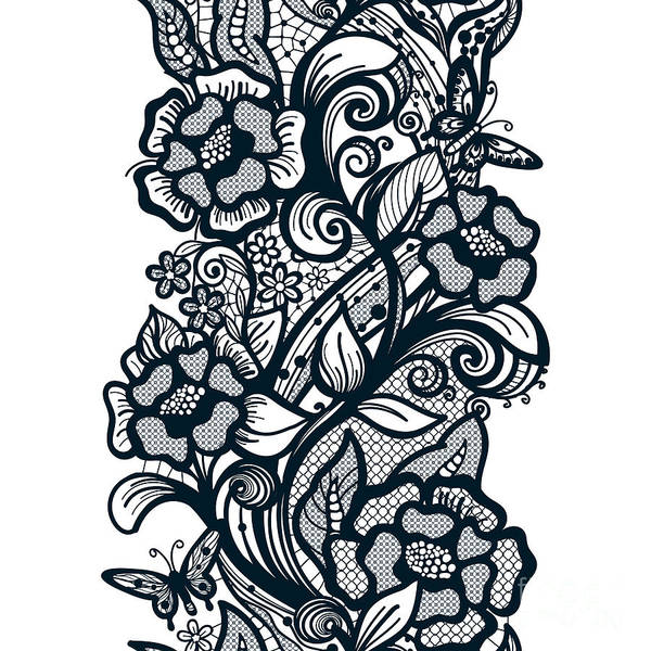 Abstract Seamless Lace Pattern With Poster