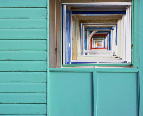 Abstract View Of The Beach Huts At Poster