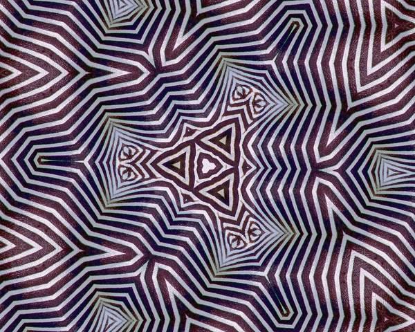 Abstract Zebra Design Poster