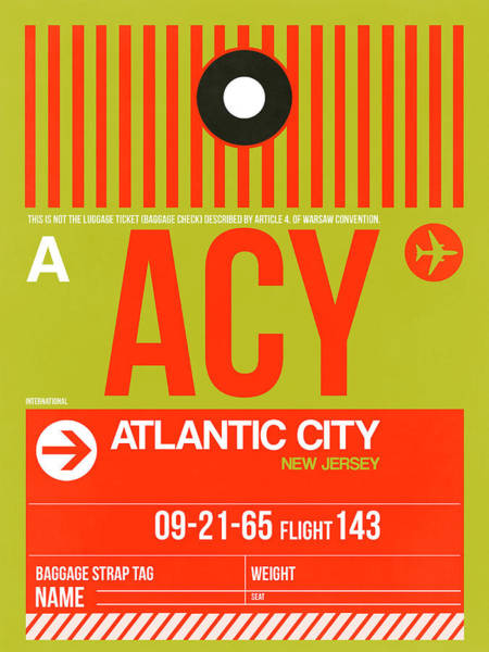 Acy Atlantic City Luggage Tag I Poster