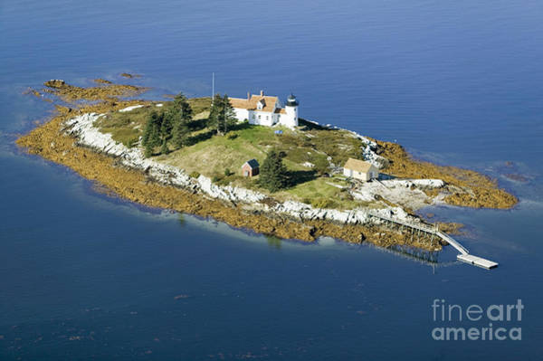 Aerial View Of An Island And Lighthouse Poster