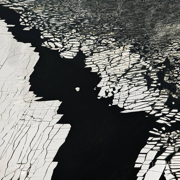 Aerial View Over The Surface Of River Poster