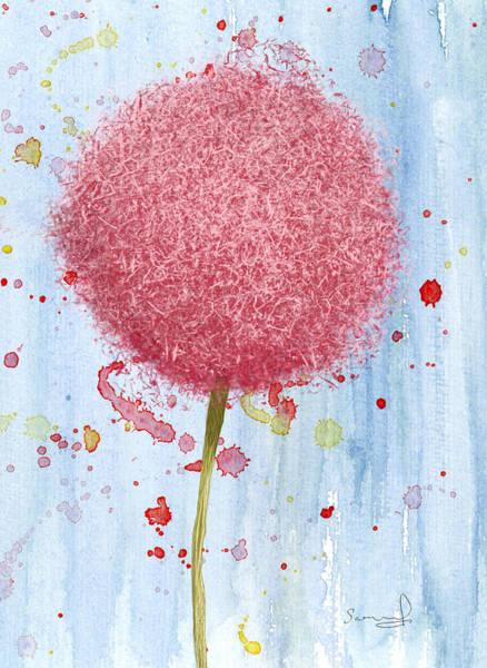 Allium Splash Poster