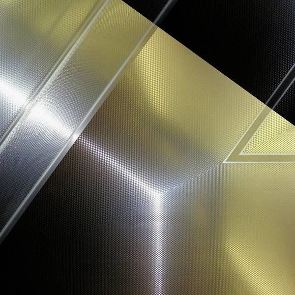 Aluminum Surface. Metallic Geometric Image.   Poster