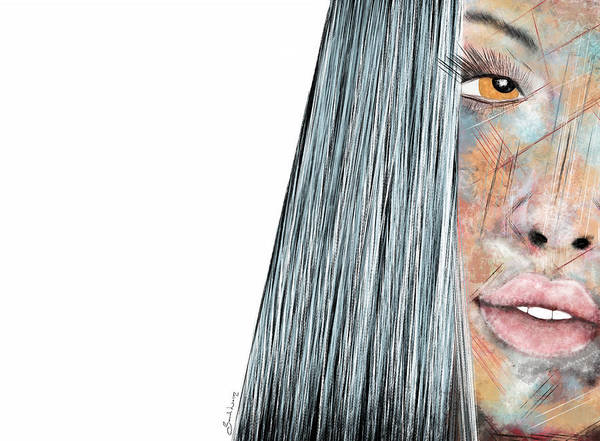 Amber Rose - Woman Abstract Art Poster