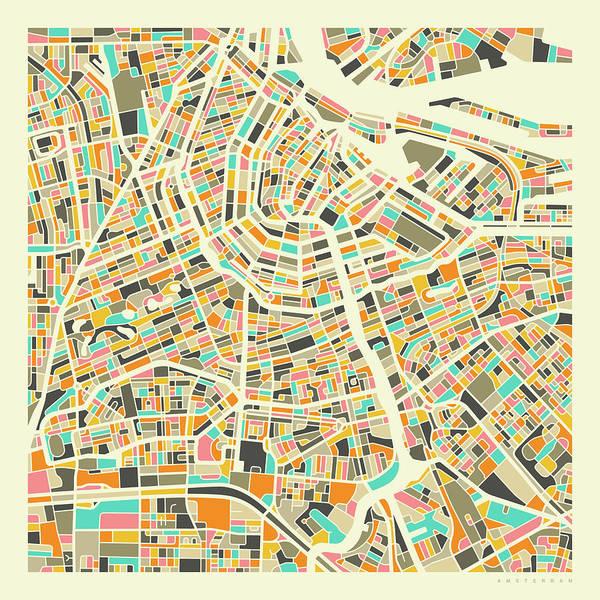 Amsterdam Map 1 Poster