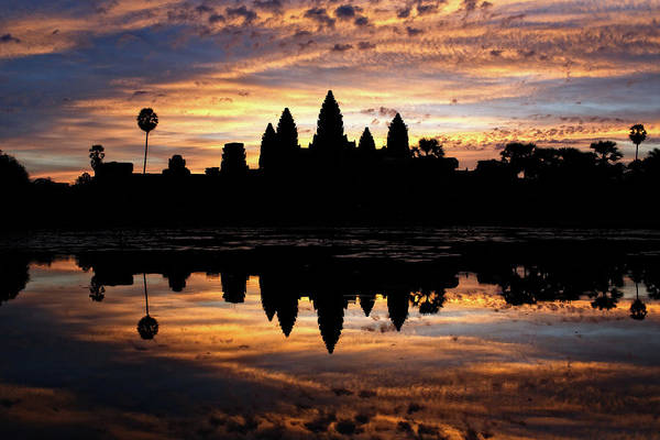 Poster featuring the photograph Angkor Wat Sunrise by Nicole Young