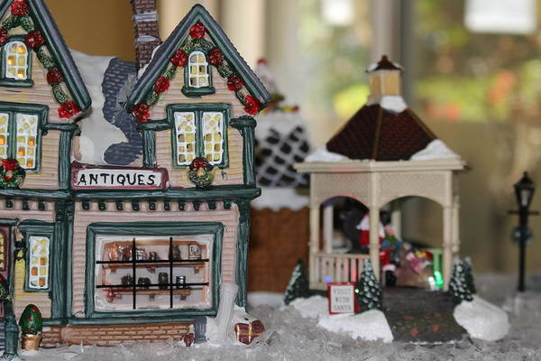 Antiques In Christmas Town Poster