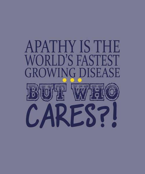 Apathy Poster