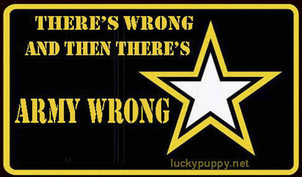 Army Wrong Poster