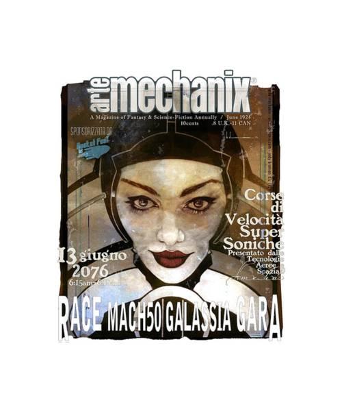 arteMECHANIX 1924 RACE MACH50  GRUNGE Poster
