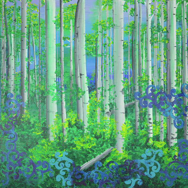 Aspens In July Poster