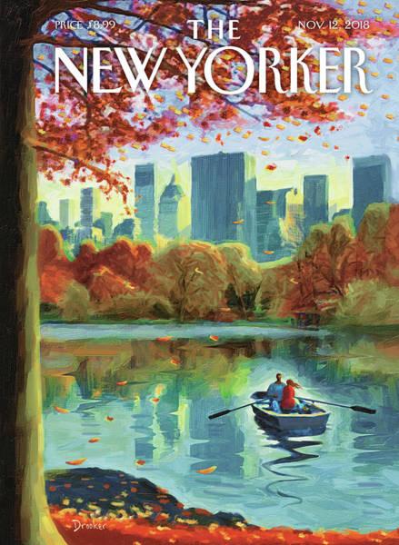 Autumn Central Park Poster